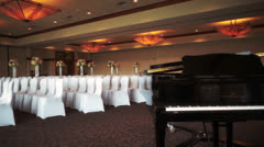 Banquet room Stock Footage