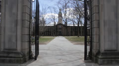 Princeton main entrance Stock Footage