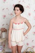 young teenager girl in pajamas - stock photo