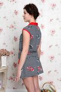 Young teenager girl in pajamas - view from the back Stock Photos