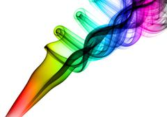 colorful magic abstract fume swirl - stock photo