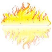 Flame on white background Stock Illustration