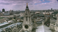 Aerial view of London Stock Footage
