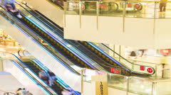 4k resolution shopping mall elevator time lapse Stock Footage