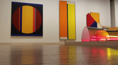 Modern art in Art Gallery of New South Wales (1) Stock Footage