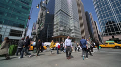 Crowd of people walking street time-lapse Stock Footage