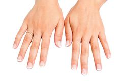 Stock Photo of french manicure on hands