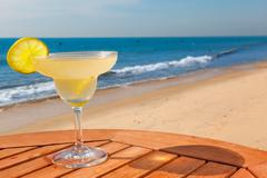 daiquiri cocktail with ice - stock photo