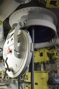 round bulkhead - stock photo