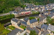 Dinan, brittany, france - ancient town on the river Stock Photos