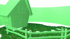 Eco-sign with house Stock Footage