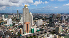 URBAN SKYLINE time-lapse - Bangkok Stock Footage