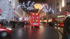 Christmas decorations Regent Street Stock Footage