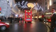 Christmas decorations Regent Street Stock Footage