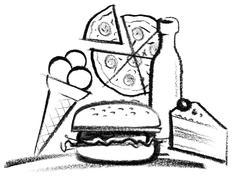 Fastfood illustration Stock Illustration