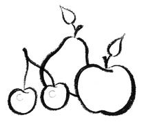 Fruit icon Stock Illustration
