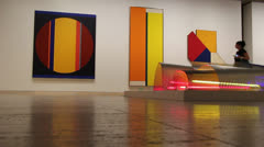 Modern art in Art Gallery of New South Wales (3) - stock footage