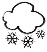 Snowy cloud icon Stock Illustration