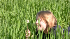 Girl laughs simply because a good mood Stock Footage