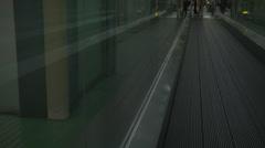 Moving walkway Shinjuku - stock footage