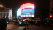 Piccadilly Circus at Night in London Stock Footage