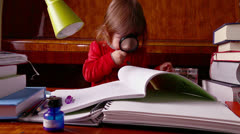Baby Girl Studies Books - stock footage
