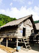 Phangnga, thailand- march 15 -vernacular houses in morgan, sea gypsie, villag Stock Photos