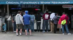 Fisherman Wharf people fast timelapse HD 5478 Stock Footage