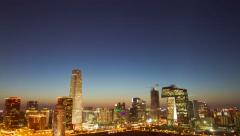 Beijing Central Business District sunset time lapse Stock Footage