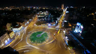 Stock Video Footage of View of the busy avenues in one of the main squares in the city center