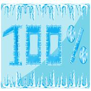 Decorative ice numeral Stock Illustration
