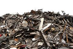 scrap lumber - stock photo