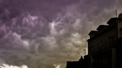 Dramatic storm rainy clouds covering the sky (time lapse) Stock Footage