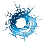 bullet hole - stock illustration