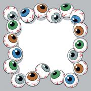 eyeballs frame - stock illustration