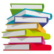 Books stack Stock Illustration