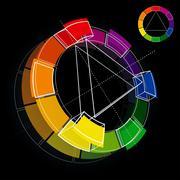 color wheel - stock illustration