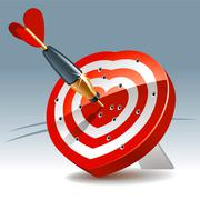 heart target - stock illustration