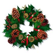 Xmas wreath Stock Illustration