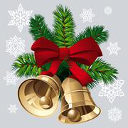 xmas bells - stock illustration