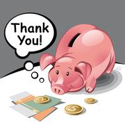 piggy bank - stock illustration