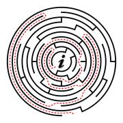 circular labyrinth - stock illustration