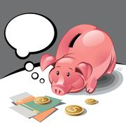 Stock Illustration of piggy bank