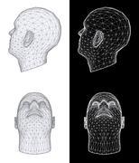Human head. vector illustration Stock Illustration