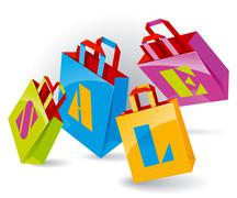 Paper bags Stock Illustration