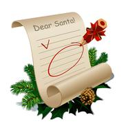 Letter to santa claus Stock Illustration