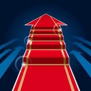 Red carpet arrow Stock Illustration