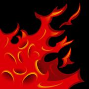 tattoo-stylized flame tongues - stock illustration