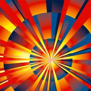 radial rays background - stock illustration