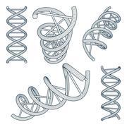 Dna symbols set Stock Illustration